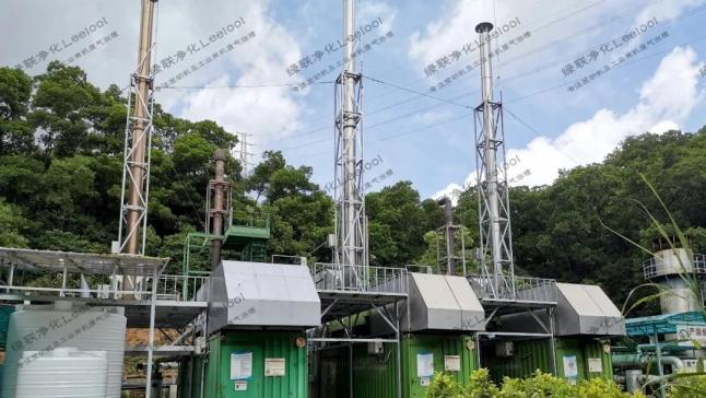 NOx治理丨生活垃圾填埋气发电厂三台1MW颜巴赫沼气发电机组尾气氮氧化物治理