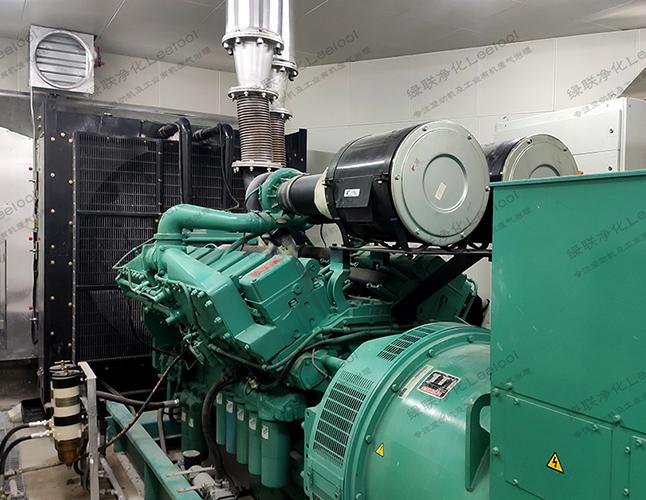 1000kW康明斯发电机干式黑烟净化器