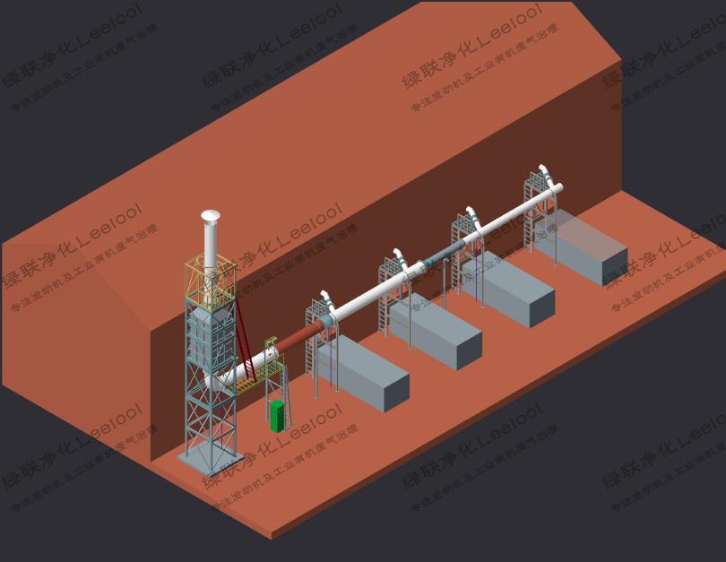 畜禽养殖场粪便沼气发电机尾气氮氧化物治理