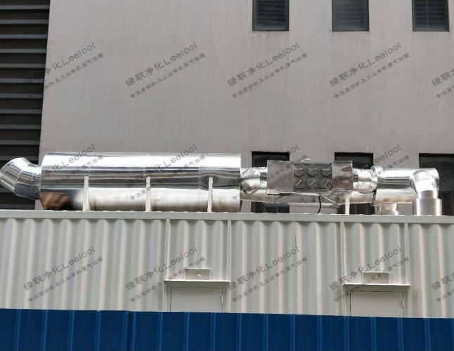 静音箱型发电机组尾气黑烟净化器