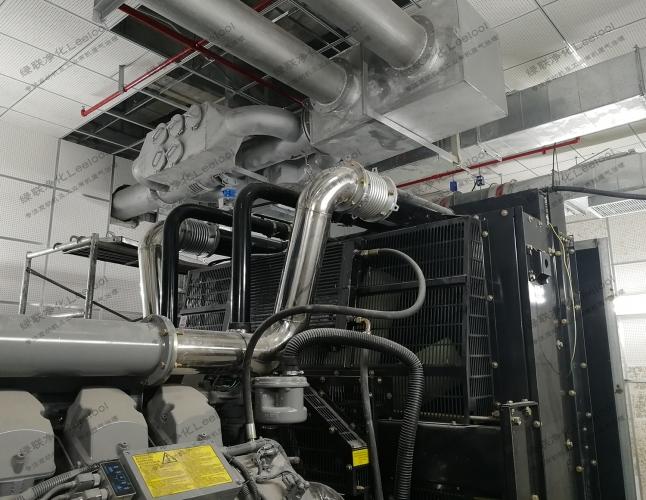 商业大厦备用电源柴油发电机黑烟治理