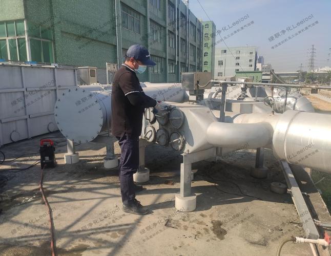 备用柴油发电机组干式黑烟净化器