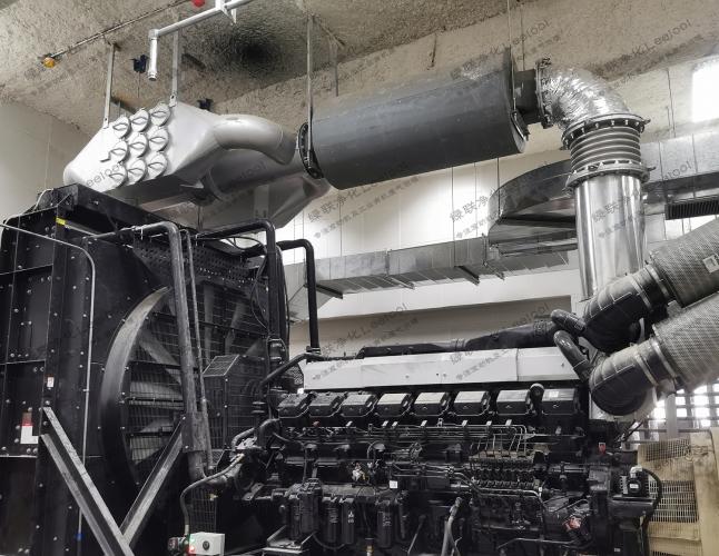 柴油发电机尾气干式黑烟净化系统