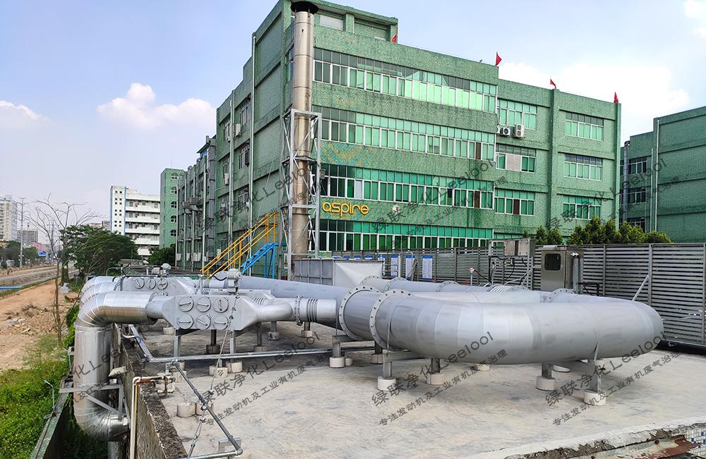 备用发电机组尾气综合治理项目现场