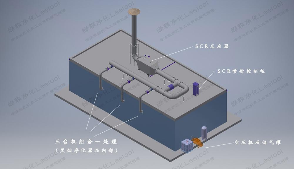 备用柴油发电机组黑烟及氮氧化物综合治理设计图1